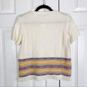 Madewell Tops - New Madewell Fringed Jacquard Sweater Tee